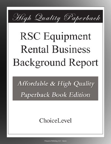 RSC Equipment Rental Business Background Report