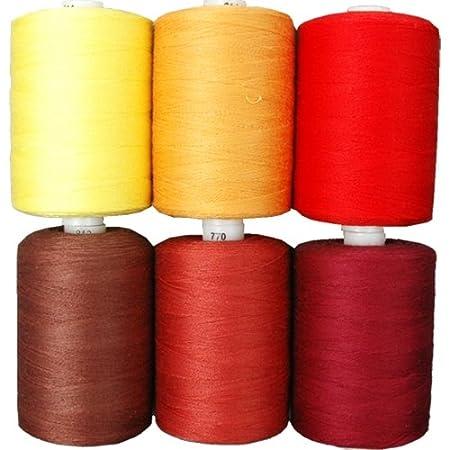 Cotton Thread Set - 6 Earth Tones - 1000M