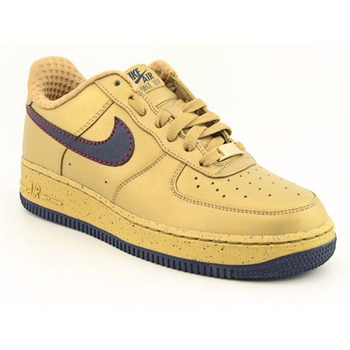 Nike Air Force 1 Premium (GSBY) Fashion Sneaker Shoes Gold Youth Kids Boys