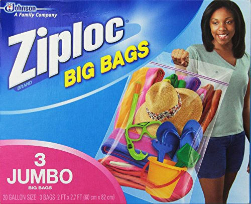 Ziploc Big Bag Double Zipper, 3 Jumbo Big Bags (Storage Bag For Bedding compare prices)
