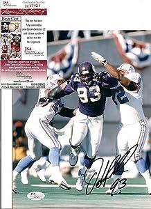 John Randle Minnesota Vikings Autographed Signed 8X10 Photo W JSA