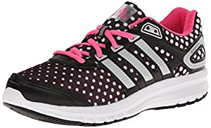 adidas Performance Duramo 6.1 Running Shoe (Little Kid/Big Kid), Black/Silver/Solar Pink, 11 M US Little Kid