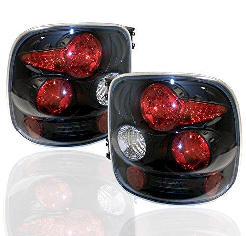 ZMAUTOPARTS Chevy Silverado/GMC Sierra Stepside Altezza Tail Lights Black (Stepside Silverado Taillights compare prices)