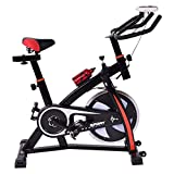 Goplus Indoor Cycle Trainer Fitness Bicycle Stationary Exercise Bike Adjustable Gym Workout Fitness Home