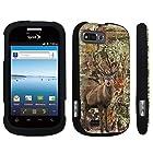 DuroCase ® ZTE Valet Z665C / ZTE Director N850L / ZTE Fury N850 Hard Case Black - (Hunter Deer Camo)