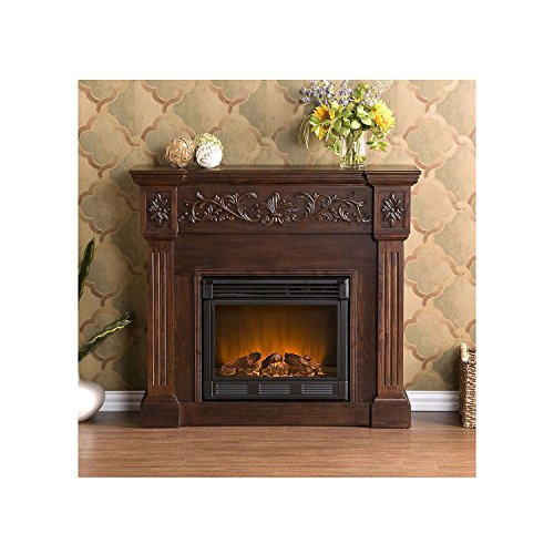 Del Ray Electric Fireplace Espresso Heating And Cooling Outlet Express