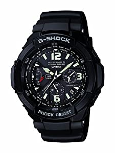 Casio Men's GW3000BB-1A G-Shock Aviation Black Resin Multi-Function Watch