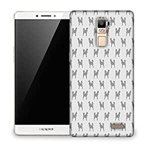 Snoogg Dogs In Grey Pattern Designer Protective Phone Back Case Cover For OPPO F1