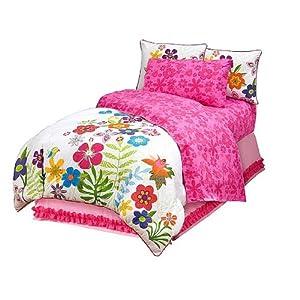 Pink Hibiscus Twin Bedding Sheet Set