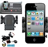 Mobilizers: In Car Air Vent Mount Holder Cradle Kit With 360° Degree Rotation Feature For New Apple iPhone 5 / 4S / 4 / 3GS / 3G And For Apple iPod Touch 4 / 3 / 2 (No Need To Remove Phone Cover)