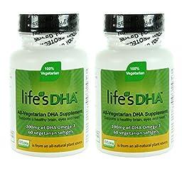 Martek Life\'s DHA Omega-3 200mg DHA 60 All-Vegetarian Softgels (Pack of 2)