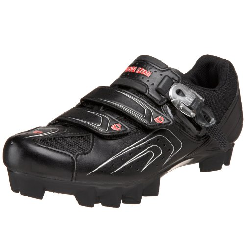 Pearl iZUMi Men's Race MTB Cycling Shoe,Black/Silver,46.5 D EU / US Men's 12 M