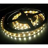 LEDER® 12v LED Flexible WARM WHITE SMD Strip Light 1 metre / 60 LED's ** IDEAL FOR GARDENS, HOMES, AQUARIUMS, CARS, ETC **