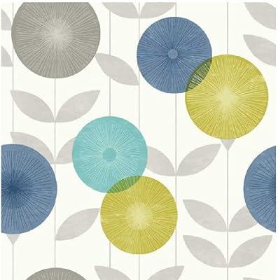 Monroe Sun Floral Leaf Print Luxury Wallpaper