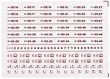 レボリューションファクトリーNゲージキハ55バス窓用インレタ準急色  RLF4046