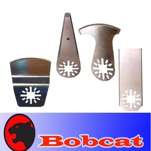4 Stainless Steel Side Scraper W/ Sharping Edge Oscillating Multi Tool Saw Blade For Fein Multimaster Bosch Multi-X Craftsman Nextec Dremel Multi-Max Ridgid Dremel Chicago Proformax Blades