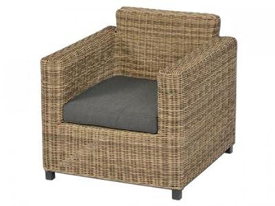 Sessel inkl. Polster Accra aus Polyrattan, naturbraun von aniba Design auf Gartenmöbel von Du und Dein Garten