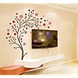 decals design beautiful magic tree with flowers wall sticker pvc vinyl 50 cm x 70 cm - Design Stickers For Walls