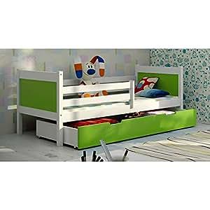justhome leon jugendbett kinderbett einzelbett. Black Bedroom Furniture Sets. Home Design Ideas
