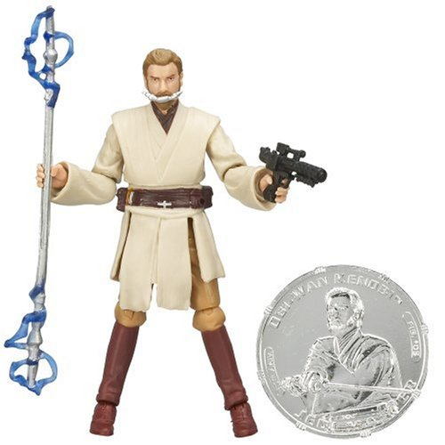 "STAR WARS 3.75"" BSC FIG Obi-Wan Kenobi with General Grievous Blaster"