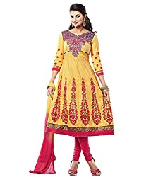 Lamiya Women's Unstitched Salwar Suit (FR7019_Multicolor_Free Size)