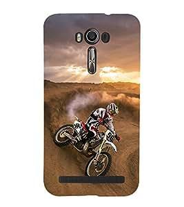 printtech Dirt Motocross Motorcycle Back Case Cover for Asus Zenfone 2 Laser ZE500KL / Asus Zenfone 2 Laser ZE500KL (5 Inches)