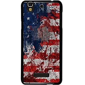 Casotec Painting American Design 2D Hard Back Case Cover for Micromax Yu Yureka AQ5510 / AO5510 - Black
