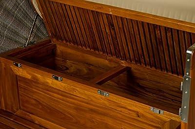 Strandkorb Kampen Mahagoni Bullauge PE Grau Dessin Marina Strandkörbe fertig aufgebaut von Möbelpromenade - Gartenmöbel von Du und Dein Garten