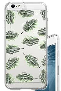 iPhone 6S Case Palm Leaves Overload Cool Fashion Tropical Summer Clear Translucent Transparent Unique Design Pattern Cover For iPhone 6S also fits iPhone 6