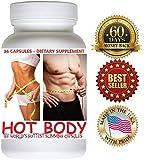 1 Bottle (36 Capsules) HOT BODY Slimming Capsules. 60 Days Money Back Guarantee!