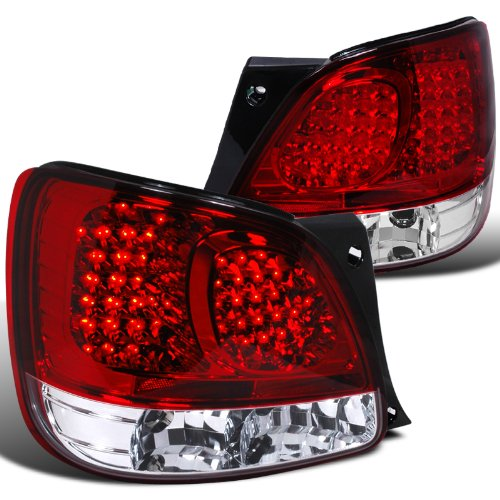 Lexus Gs300 Gs400 Gs430 Red/Clear 2Dr Couple Led Tail Lights