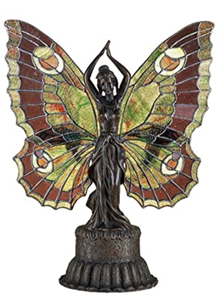 "Meyda Lighting 48018 17""H Butterfly Lady Accent Lamp"