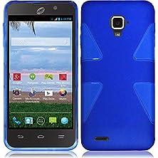 buy Vmg +Eb For Zte Rapido Lte Z932L (Straight Talk, Net10) Cell Phone Premium Slim Profile Slick Tpu Dual Shield Tough Rigid Fitted Armor Cover Case - Blue + Free Black Earbud (Ear Bud) Gift