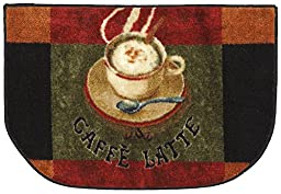 Mohawk Home New Wave Caffe Latte Primary Printed Rug,  1\'6x2\'6 Slice,  Brown