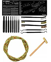 Otis Ripcord .308 7.62mm 30-06 30-30 300 Cal Bore Barrel Cleaner + Ultimate Arms Gear Cleaning Gun Mat M1 Carbine Rifle + 8pc Pin Punch Tool + Brass Hammer + 3 Brushes & 2 Picks