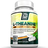BRI Nutrition L-Theanine - 60 Count 200mg Veggie Capsules - Enhanced with 100 mg of Inositol