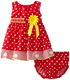 Blueberi Boulevard Baby-girls Newborn Dots and Daisies Sundress