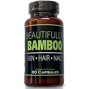Beautifully Bamboo Beautifully Bamboo Ultra Vitamin For Skin, Hair, And Nail Growth. Enriched With Biotin, Bamboo Silica, Amino Acids And More