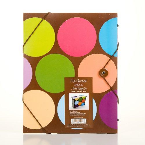 Carolina Pad Hot Chocolate 7-Pocket Hanging File Circle Design, 9.25 x 11.75 x .5 Inches (15018)