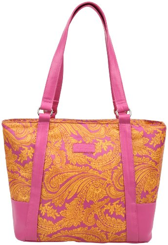 Sachi 154-182 Insulated Fashion Lunch Tote, Pink Paisley front-225054
