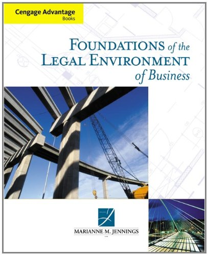 Foundations Of The Legal Environment Of Business front-282417