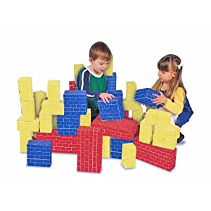 Image: Melissa + Doug Deluxe Jumbo Cardboard Blocks - Endless building combinations