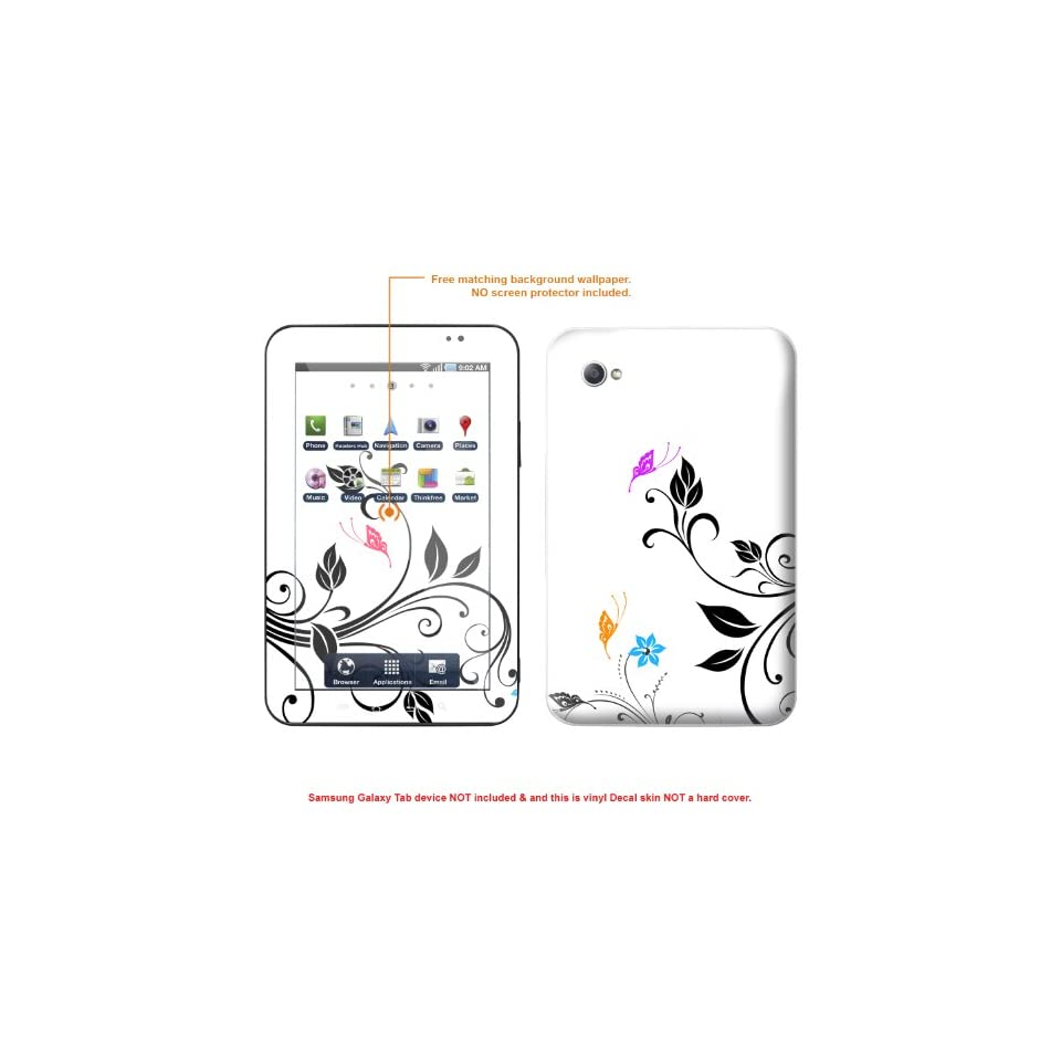 Protective Decal Skin STICKER for Samsung Galaxy Tab Tablet