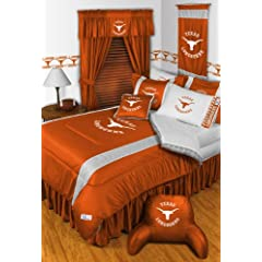 Texas Longhorns QUEEN Size 15 Pc Bedding Set (Comforter, Sheet Set, 2 Pillow Cases, 2... by Sports Coverage