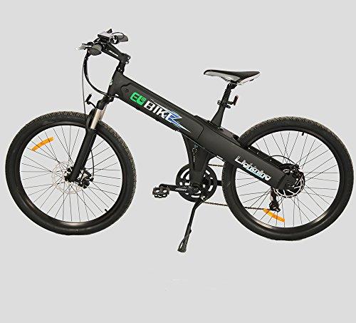 "26"" New Matt Black Electric Bicycle Mountain 48v500w Lithium Battery City Ebike"