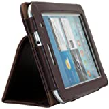 Shenit Premium PU Leather Case Cover Folio for Samsung Galaxy Tab 2 7.0 P3110/P3100 - Brown + Free Retractable Stylus