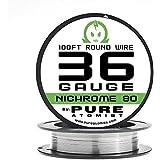 Pure Atomist Nichrome 80 36 Gauge AWG Round Wire Roll 0.127mm 36g Spool N80