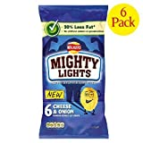 Walkers Mighty Lights Cheese & Onion 6 x 25g
