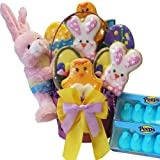 Me and My Peeps Easter Cookie and Peeps Gift Basket with Bunny