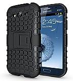 Cubix Defender Series Dual Layer Hybrid TPU + PC Kickstand Case Cover for Samsung Galaxy Grand 2 G7106 (Black)